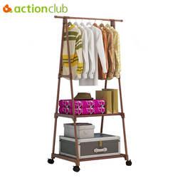 Actionclub/Универсальный Треугольник простой вешалка для пальто из нержавеющей стали Снимаемая одежда подвесная Вешалка напольная подставка