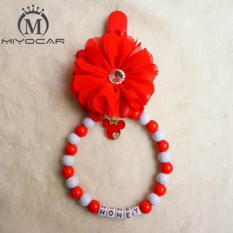 MIYOCAr Personalised --Any name stunning red bling lovely baby pram charm baby rattle for baby boys girls ideal gift