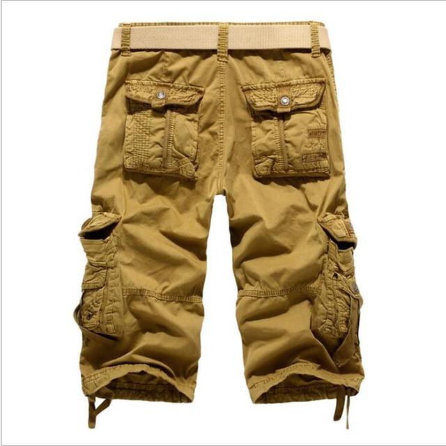 8 Colors Plus Size 29-42 New Brand Summer Camouflage Loose Cargo Shorts Men Camo Summer Short Pants Homme Cargo Shorts NO BELT 10