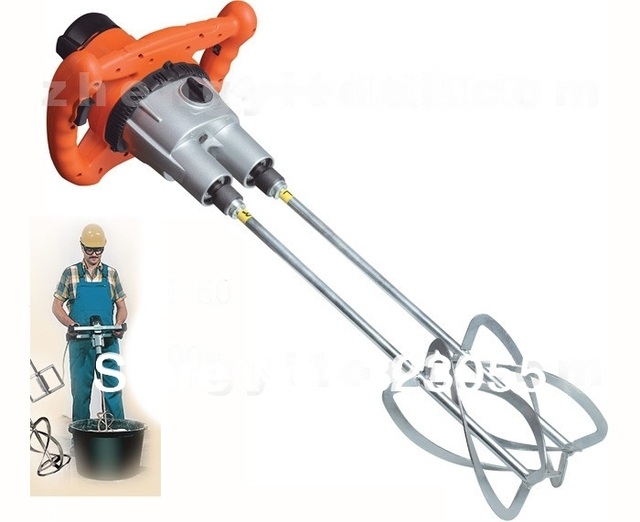 Hand Held Electric Cement Mixer Two Muddler For Mortars