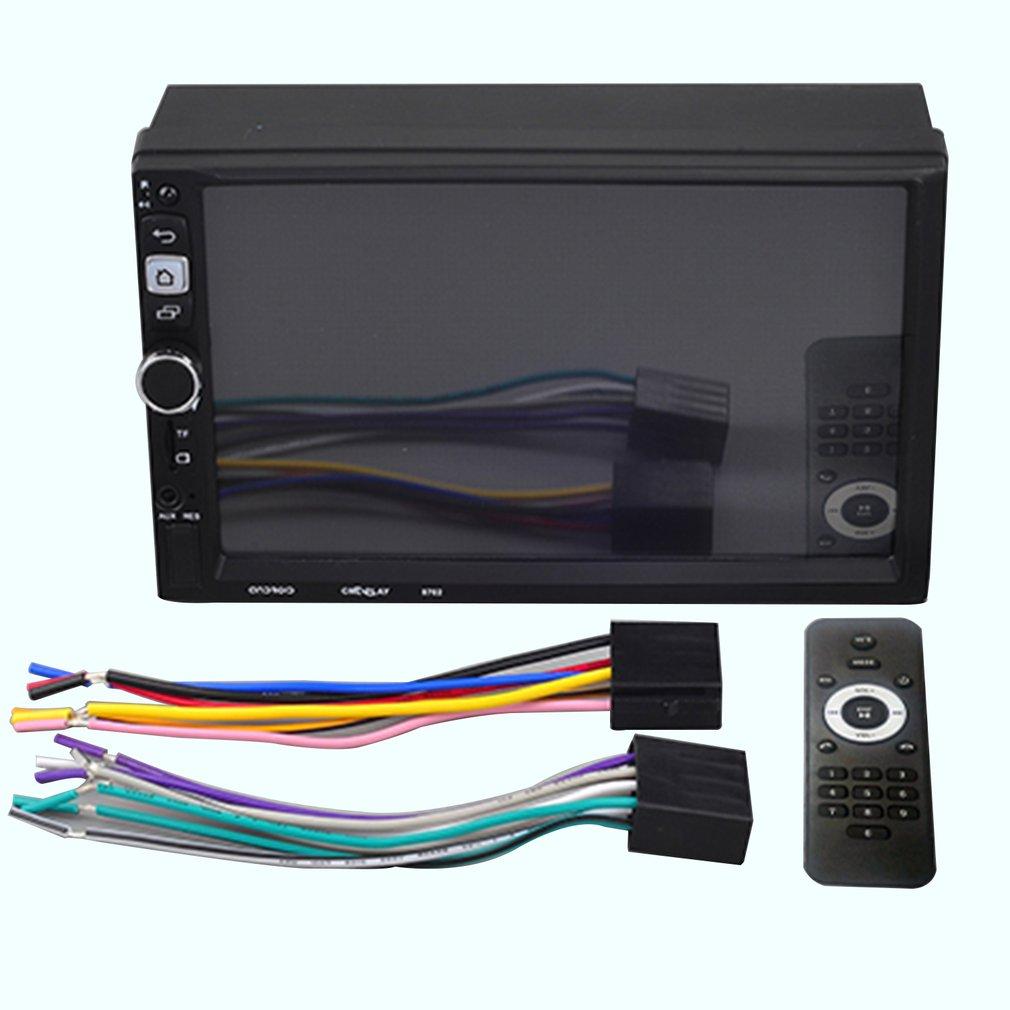 8702 7 Inch Bluetooth Stereo Auto Car Media MP5 Player RC Control Rear View Camera Remote Control Car Rear View Camera
