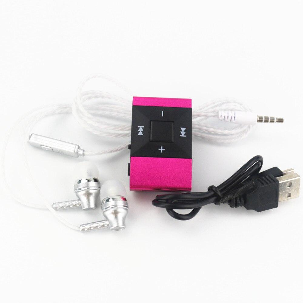 Hamnol 2017 мини MP3-плееры mp3 клип Поддержка карта Micro SD MP3 + стерео Наушники гарнитура + зарядка через USB кабель Лидер продаж