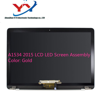 5 PCS Gold Silver Grey Original 12'' A1534 Screen Display Assembly For Macbook Retina 12'' A1534 LCD Screen 2015 2016