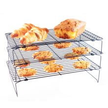 Shebaking 3 layers Stackable Cooling Rack Stainless Steel Non-stick Biscuit Cookie Bread Cake Kitchen Baking Tray