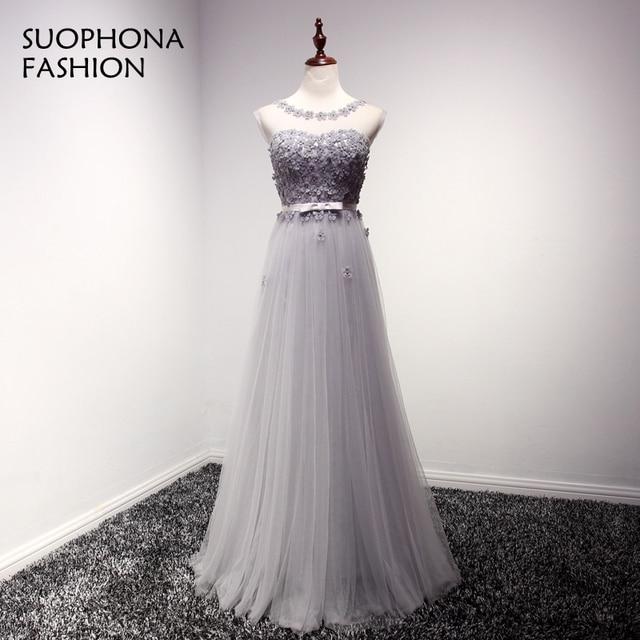 Abendkleider Cap sleeve Tulle 3D Flower Cheap evening dress 2018 ...