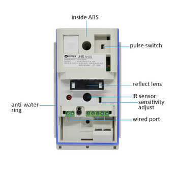 Security Alarm sensor IP54 waterproof outdoor infrared detector wall-mounted pet immunity optex lx402 NC NO signal output option