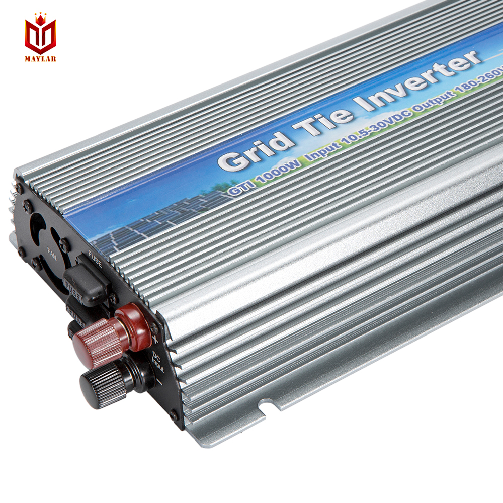 MAYLAR@10.5-30v 1000W Solar High Frequency Pure Sine Wave Grid Tie Inverter Output 90-140V power inverter For Alternative Energy 1000w grid tie inverter mppt function 20 45vdc to ac190 260v or 90 140v pure sine wave output micro on grid tie inverter 1000w