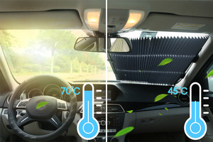 Image 2 - Universal Car Sun Visor Retractable Front Windscreen Car Sunshade Auto Sun Shades for Windshield UV Protection Covers Accessory