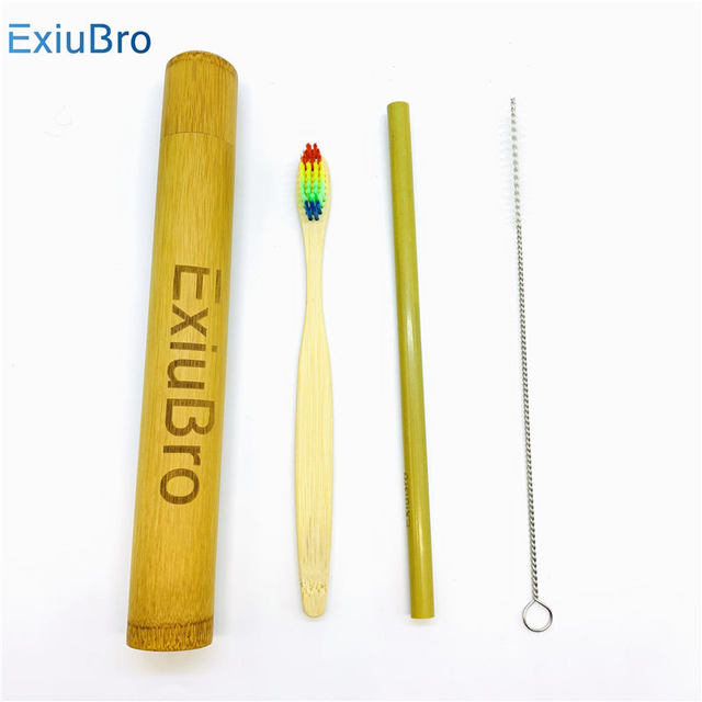 Organic Handmade Bamboo Storage Tube Eco-friendly Toothbrush Case for Bamboo Toothbrush Travel Holder Personalized Bamboo Tube