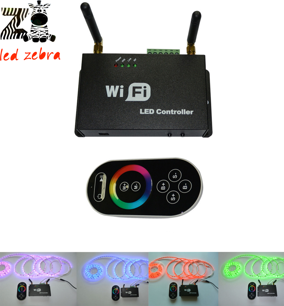 Wf100 rgb wifi ledコントローラでリモートコントローラ、iphone android携帯電話wifiディマー色温度調整