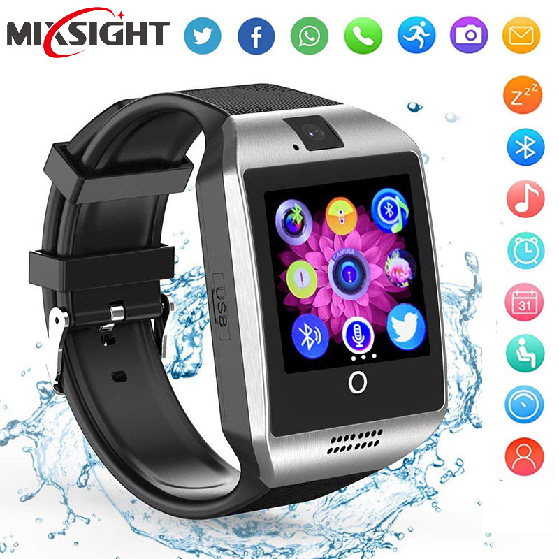 Bluetooth Smart Watch Men Q18 With Touch Screen Big Battery Support TF Sim Card Camera for Android Phone Smartwatch fitbit watch