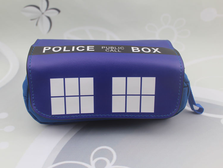 Doctor Who pen bag Cartoon 20CM Anime Pencil Bags Case makeup bag cosmetic bag anime handbag cosmetic bags kawaii cartoon pencil pen case cosmetic makeup bag zipper travel pouch case large contain bags mala de maquiagem 2
