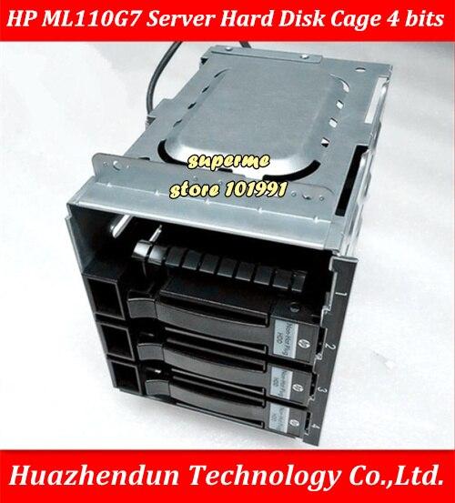 DEBROGLIE H-P d'origine ML110G7 serveur SATA SAS HDD disque dur Cage adaptateur plateau 4 BITs fond de panier avec 4 pièces 637214-001 SSD plateau
