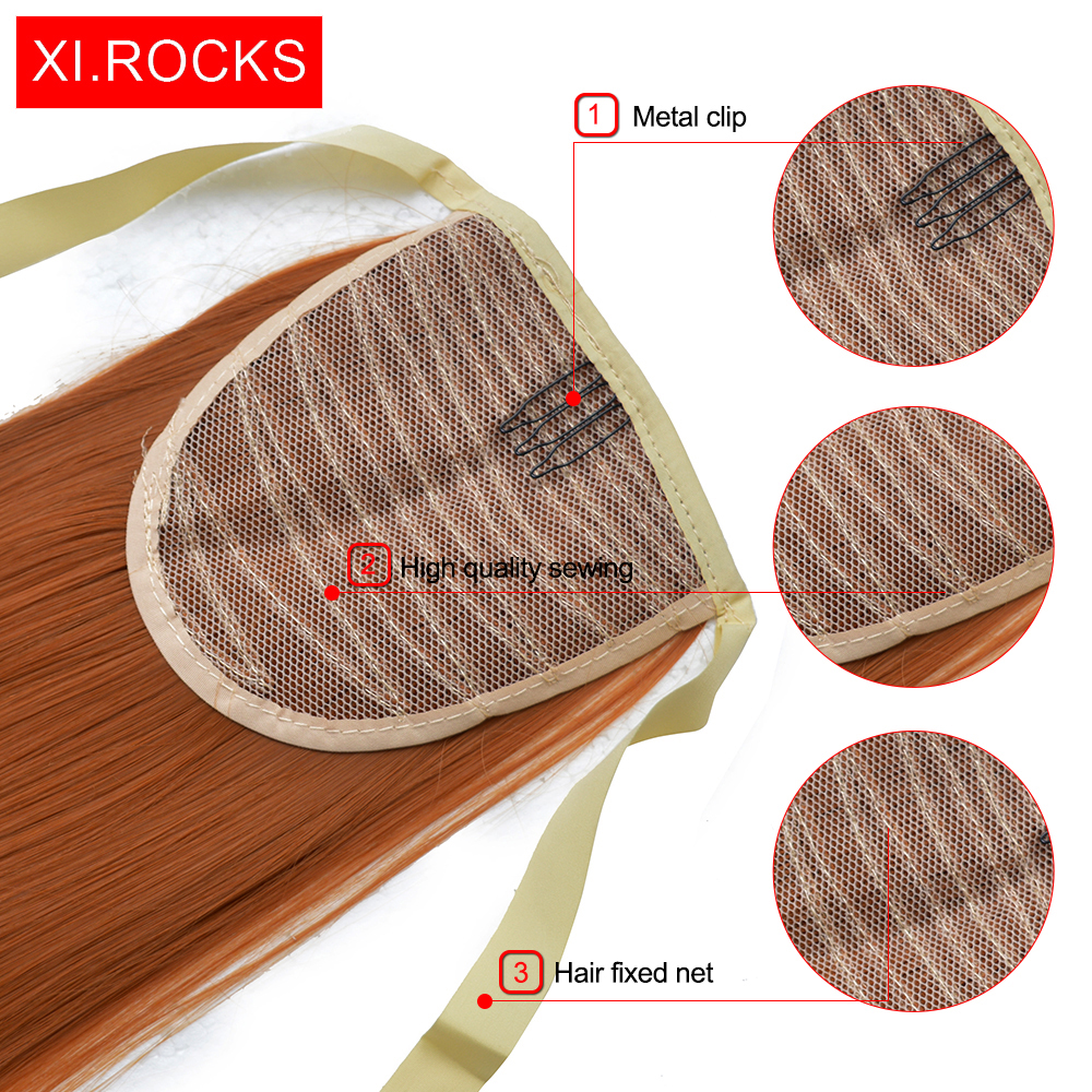 Xi.rocks Straight Hair Ponytails 25Colors Syntetisk - Syntetiskt hår - Foto 6