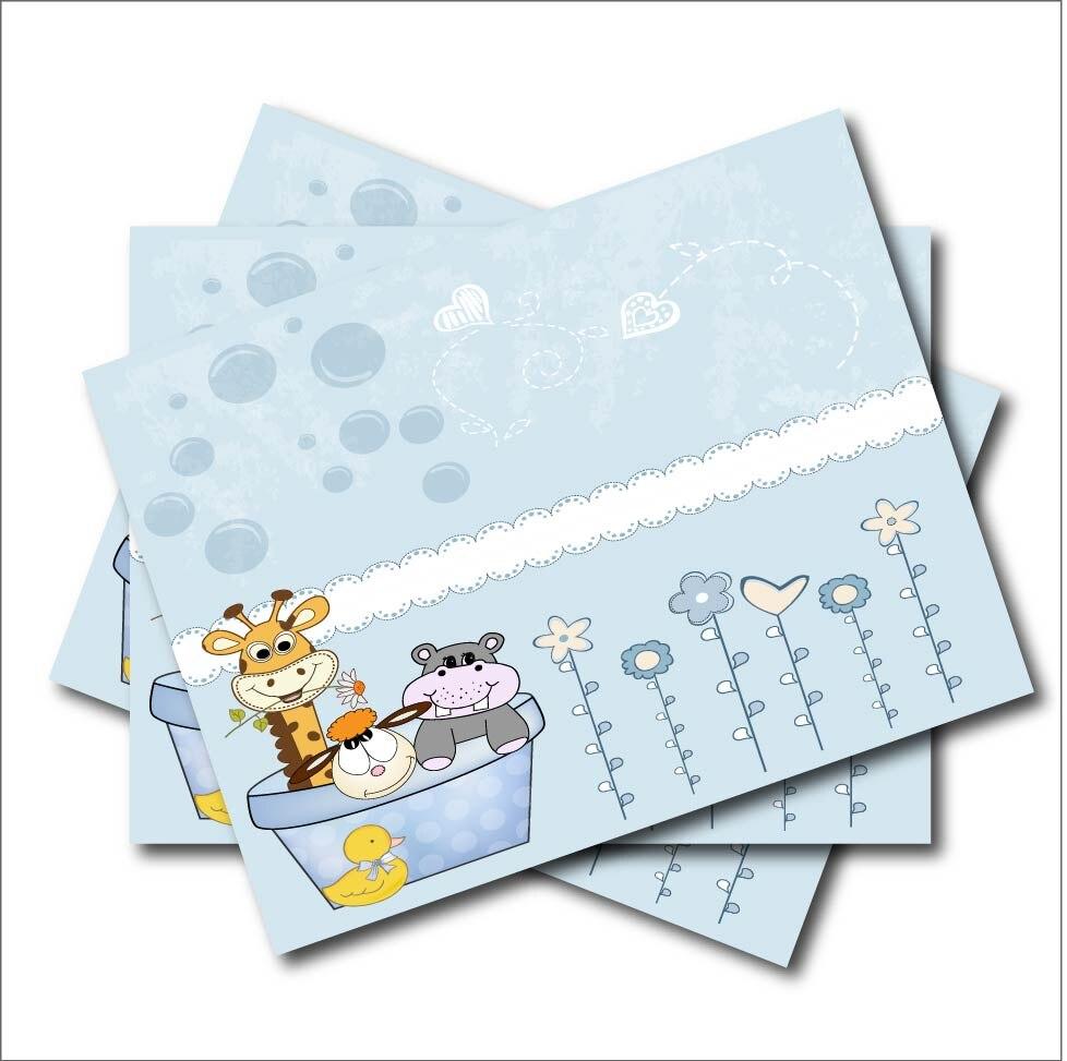 4 9 40 De Descuento 14 Unids Lote Lindo Pato Jirafa Personalizado Niños Fiesta De Cumpleaños Invitación Baby Shower Invitaciones Fiesta Decoración