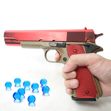 Outdoor Toys Kids Guns Weapon M1911 Pistol Airsoft Air Guns Plastic Model Collection Can Launch Orbeez Guns Boys Toy For Kids(China)