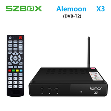 ALEMOON X3 DVB-T2 Smart Digital Terrestrial Receiver casting H.265 Decoder Satellite TV Receiver 2.4G WIFI OTA smart tv box X3