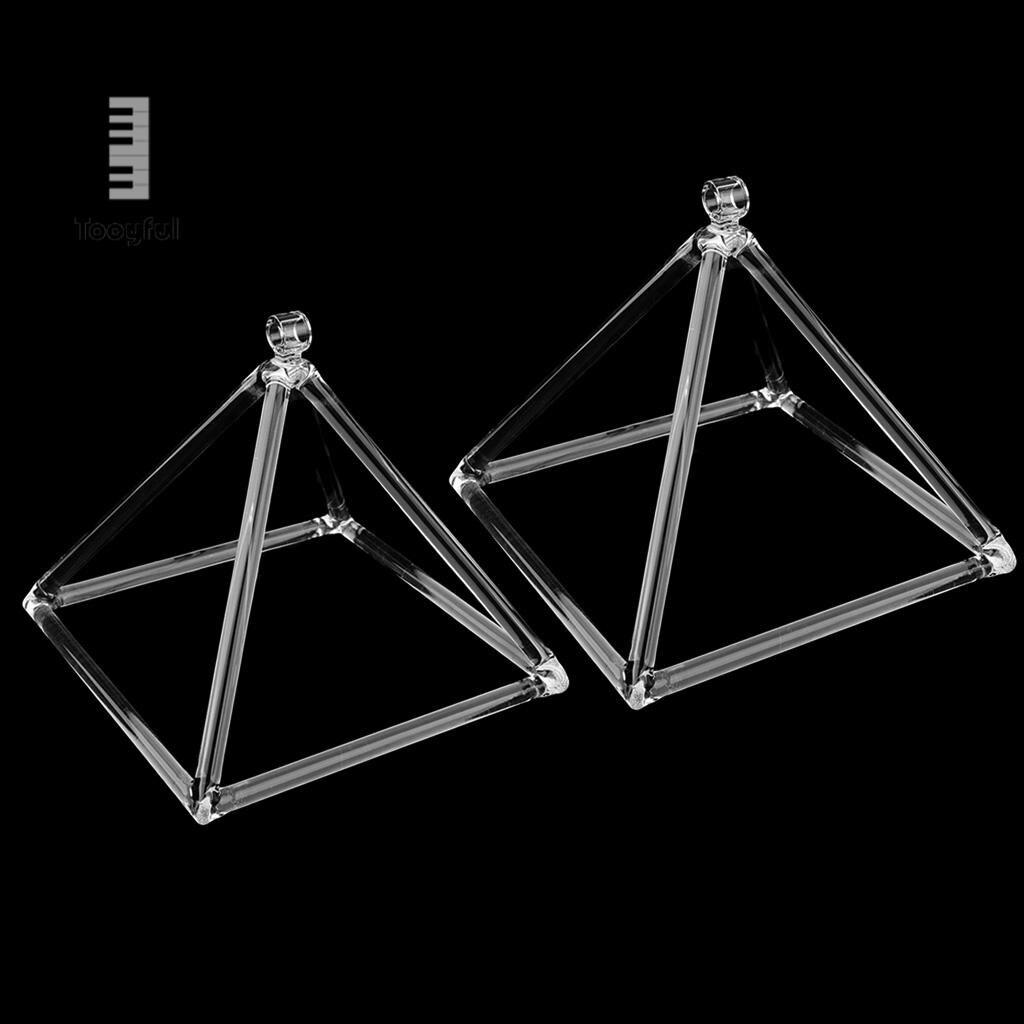 Tooyful 2PCS Root Chakra Crystal Singing Pyramid C Note for Meditation,Prayer Relax 6'' 8'' стоимость