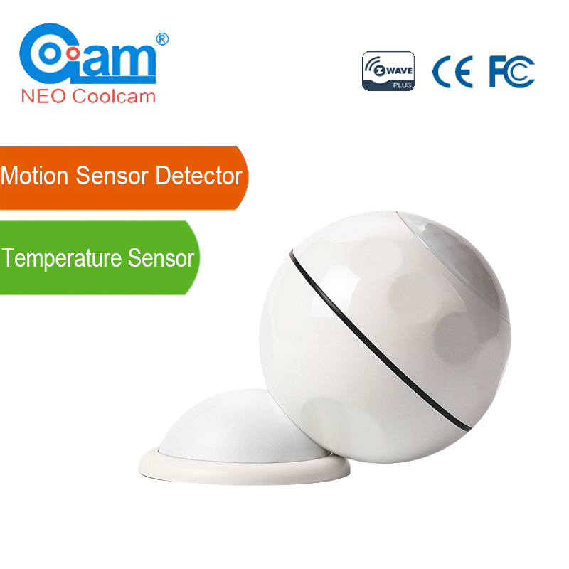 NEO Coolcam Z-wave Mini PIR Motion Sensor Detector+Temperature Sensor Z Wave Home Automation Alarm System Motion Alarm