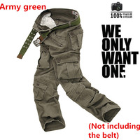 Men S Tactical Military Army Camouflage Cargo Pants Multi Pocket Causal Trousers Straight Long Baggy Loose