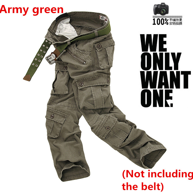 Men s Army tactical Military Camouflage Cargo Pants Multi pocket Causal trousers Straight Long Baggy Loose