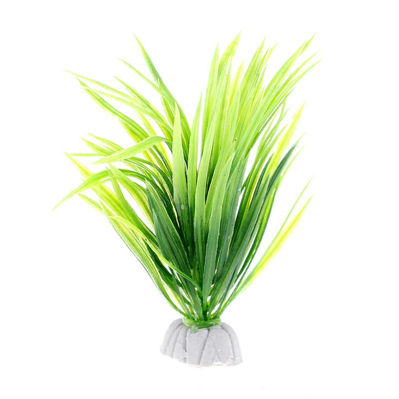 9 CENTIMETRI/12 centimetri akvaryum dekor Simulazione piante Artificiali Acquario Decor Acqua Weeds Ornamento Pianta serbatoio di pesci d'acquario Erba