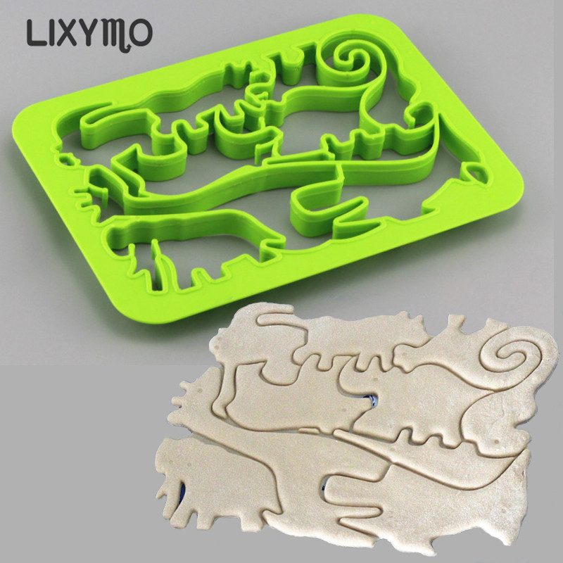 11 조각 원피스 쿠키 커터 아이 DIY 과자 디저트 비스킷 금형 정글 바다 동물 퐁당 금형 LIXYMO