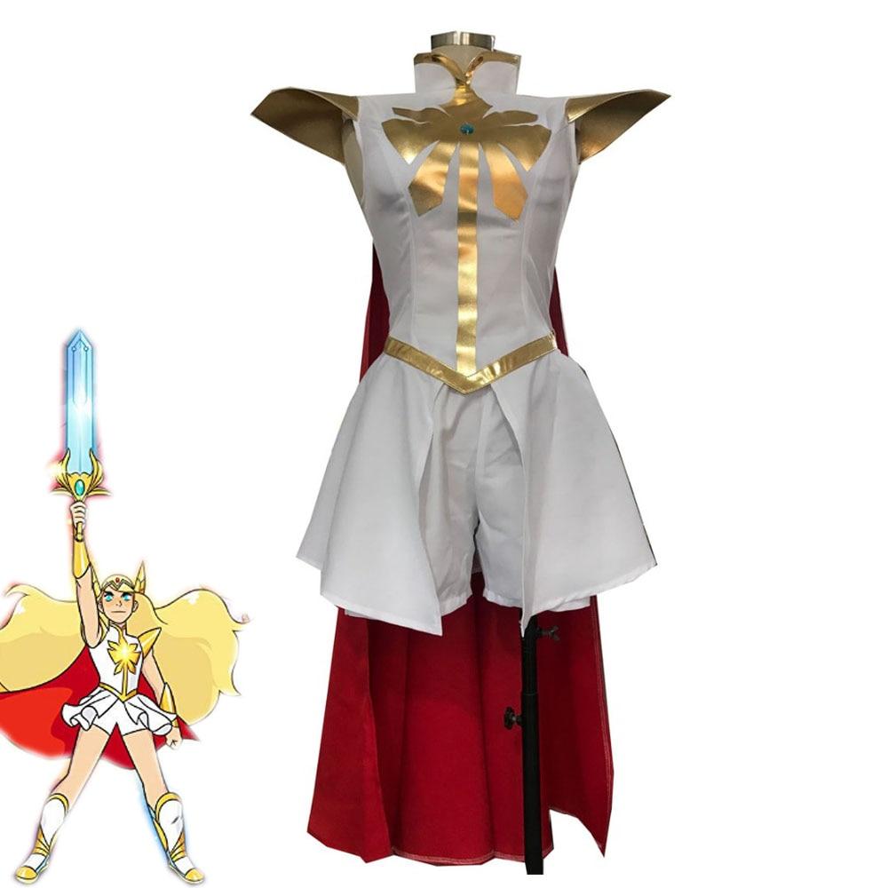 Cartoon She-Ra And The Princesses Of Power She-Ra/Princess Adora Cosplay Costume Women Cute Suit Halloween Uniforms Custom Made