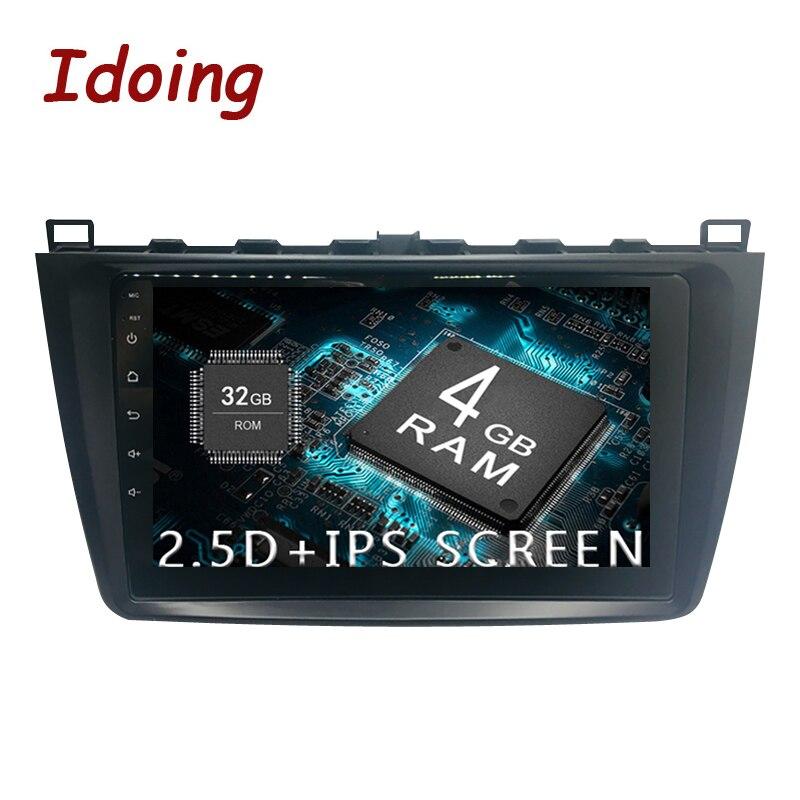 Idoing 1Din Android8.0 Volante Auto Radio Lettore Multimediale Fit Mazda 6 Navigazione GPS 4G + 64G octa Core 1080 P Bluetooth