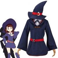 Little Witch Academia Akko Kagari Dress Uniform Outfit Anime Cosplay Costumes