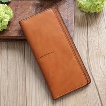 2019 new womens wallets and purses  women handbags PU leather wallet casual slim handbag luxury vintage