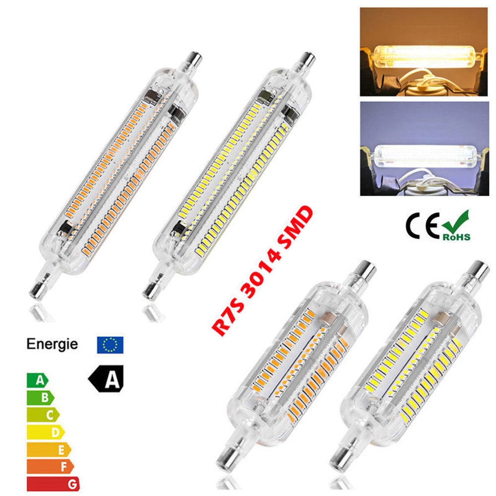 New Silicone r7s LED Lamp 10W 15W SMD3014 78mm 118mm LED R7S Light Bulb 220-240V Energy Saving Replace Halogen Light Lampada Luz r7s led bulb 78mm 10w led corn bulb 118mm 20w ac 220v r7s 4014 smd silicone leds lamps replace halogen 60w 120w light