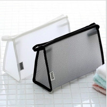 Casual Travel Cosmetic Bag Women Zipper Make Up Transparent Makeup Case Organizer Storage Pouch Toiletry Beauty Wash Kit Bags casual fruit canvas drawstring small cosmetic bag travel make up case organizer storage makeup pouch toiletry beauty wash kit