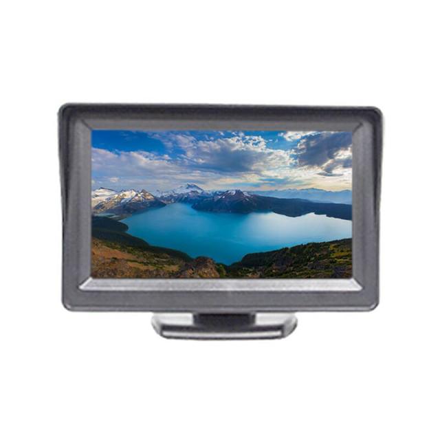 TFT LCD Monitor Do Carro Tela de 4.3 Polegada Para A Assistência de Estacionamento Câmera de Visão Traseira DVD PAL/NTSC Compatível Display Colorido