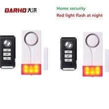 Darho 2PCS  433MHz Door Window Entry Security Burglar Sensor Alarm PIR Door Magnetic Wireless Alarm System Security Wholesell