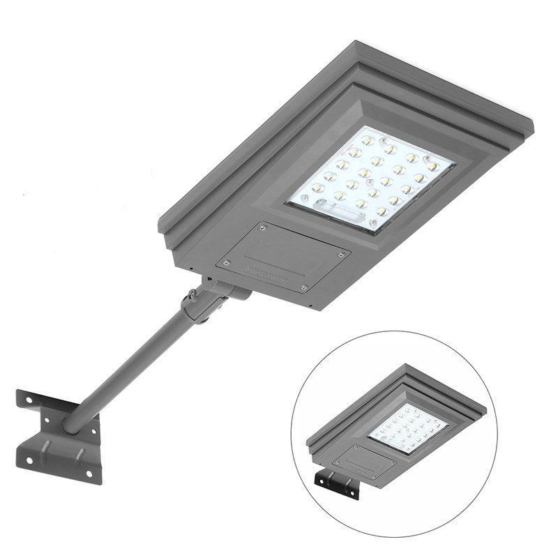 Mising 20W Solar Powered Street Light Walkway Light With Remote Controller With Bracket Outdoor Garden Security Lamp