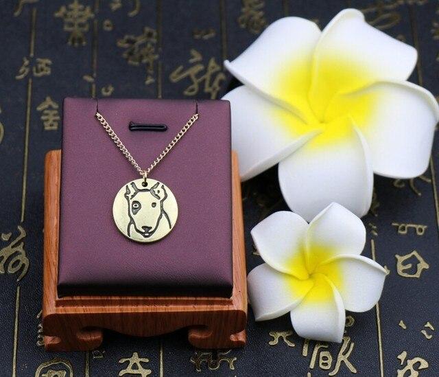 Купить ожерелье ручной работы в стиле ретро с изображением бультерьера картинки