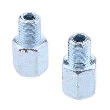 2 Pcs Motorcycle Rearview Mirror Screw 10mm Thread Adapter Conversion Bolts RH Universal Motorbike