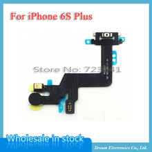 MXHOBIC 10pcs/lot Power Switch On / Off Button Flex Ribbon Cable Proximity Light Sensor For iPhone 6S Plus Replacement Parts