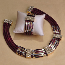 Personality Big Leather Schmuck Necklace Bracelet Pulseiras Jewelry For Sobretudo feminino Punk Choker Bijuterias font b