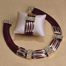 Personality Big Leather Schmuck Necklace Bracelet Pulseiras Jewelry For Sobretudo feminino Punk Choker Bijuterias unhas Joias