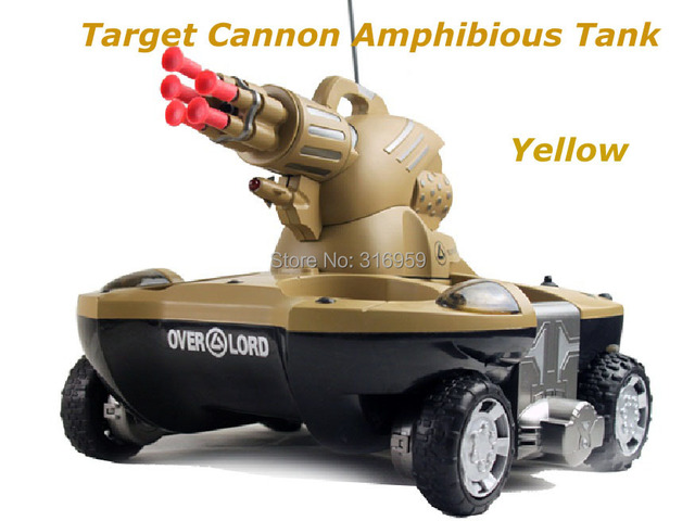 83d8d5341294af Army Amphibious RC Tank Target Cannonball Remote Control 6 Channel  Simulation Tank Model electronic Tank Vehicle Model Toy