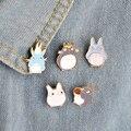 5 unids/set Japón Anime TOTORO esmalte pines y broches ropa para niños insignia ramillete mi vecino Totoro joyería