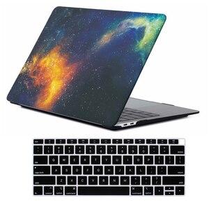 Image 2 - Funda de mármol mate y cubierta de teclado para nuevo Macbook Air 13 pulgadas, 2018 de liberación A1932 con pantalla Retina y ID táctil