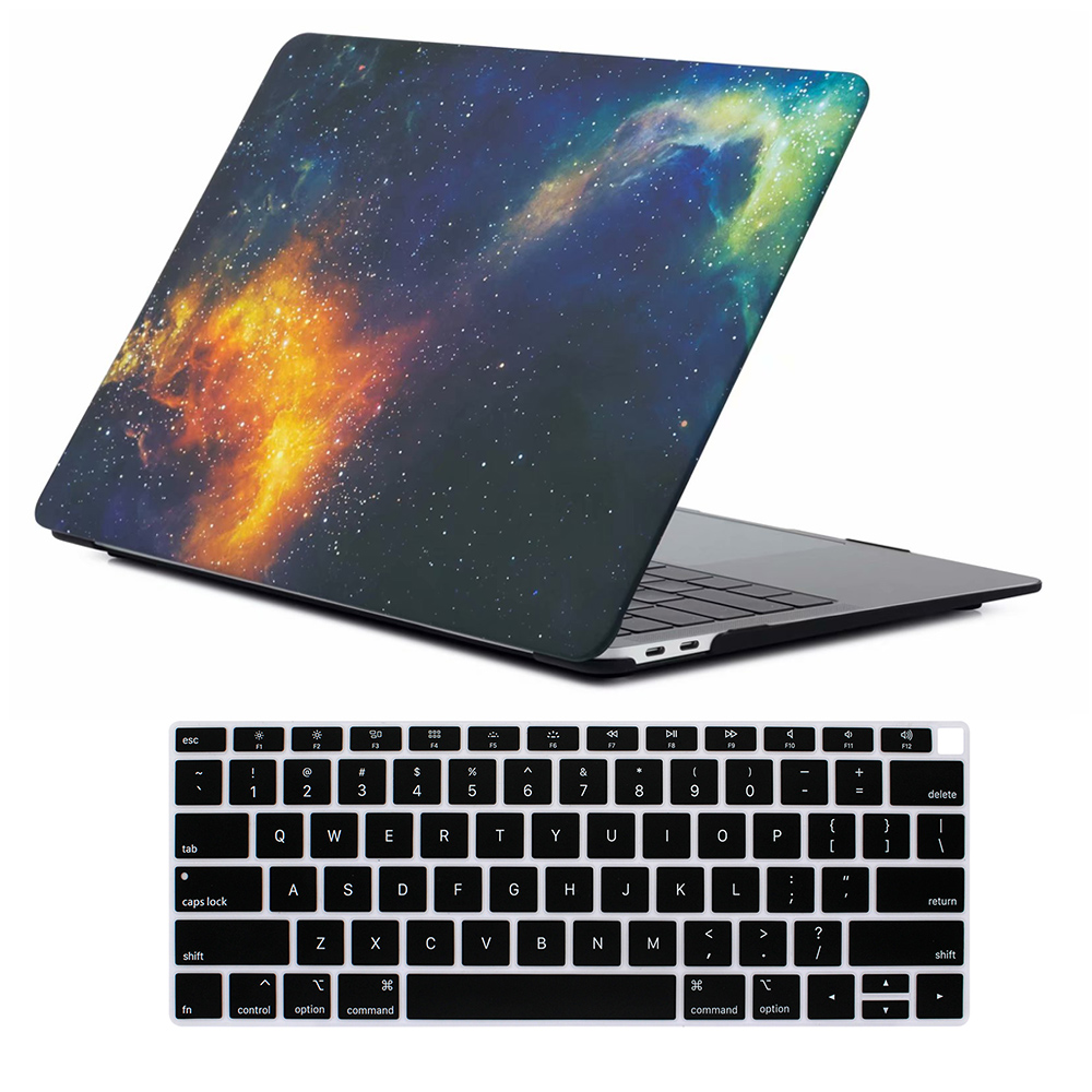 Image 2 - Marble Matte Shell Cover & Keyboard Cover for New Macbook Air 13 inch Case 2018 Release A1932 with Retina display & Touch ID-in Laptop Bags & Cases from Computer & Office