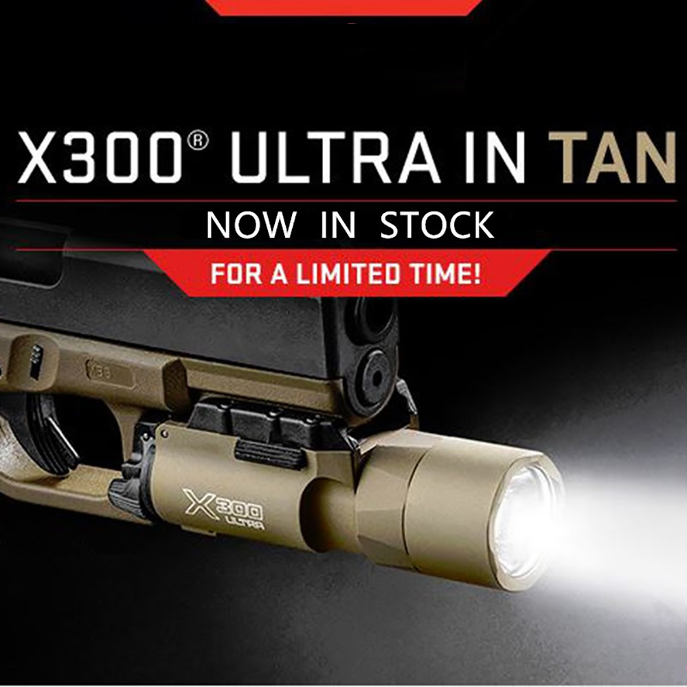 ФОТО WIPSON Tactical X300 Ultra Weapon Lights Pistol lanterna Airsoft Flashlight with Picatinny Rail