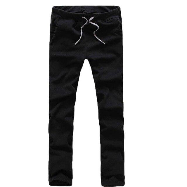 Горячая Продажа! Дизайн моды Мужские Прямые Брюки, весна и осень Сплошной Цвет брюки, мужская Повседневная Брюки A37