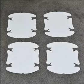 มือจับประตูรถสติกเกอร์ประตูฟิล์มป้องกันจับสำหรับออดี้A4 B6 A3 A6 C5 Q7 A1 A5 A7 A8 Q5 R8 TT S5 S6 S7 S8 SQ5