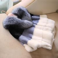 Корейский и Серьги капельки harajuku довольно реального норки Мех животных куртки зимние теплые натуральный мех пальто для будущих мам abrigo mujer