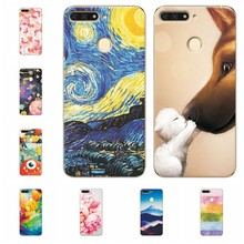 "Soft Fundas For Huawei Honor 7 C Scenery Phone Case For Huawei Honor 7C 7 C Russian Version 5.7"" Inch Capa Soft TPU Silicone(China)"